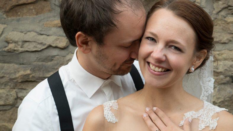 Brautpaar Hochzeitsfotos fotografiert von Fotostudio Witten - Kristina Bruns